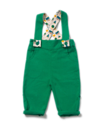 Broek met bretels Little Green Radicals, Fern Green Bubble Bottoms 6-9mn