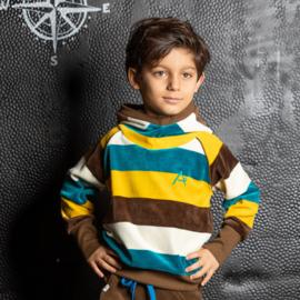 Hoody Albababy, Habian Hood Blouse Turkish Tile Loves stripes 86 of 98