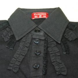 Poloshirt long Claesen`s, vintage donker blauw, Maat 2 = 92-98