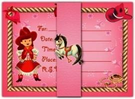 Kaarten Dolce Mia, cowgirl