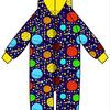 Onesie, Jumpsuit lined met hood Duns, Lost in Space Navy     .      tot 140!