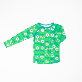 Longsleeve Albababy, Ghita Blouse Kelly Green Fairy Tail Flowers