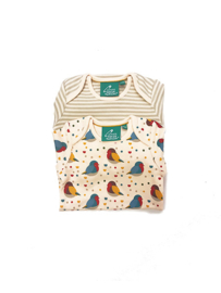 Romper / Body set Little Green Radicals, Rainbow Robins two pack