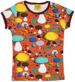 T-shirt DUNS Sweden, Mushroom Forest dark orange 104, 116 of 128
