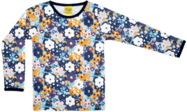 T-shirt Long Duns Sweden, Flower Blue 80, 92, 104, 116 of 128