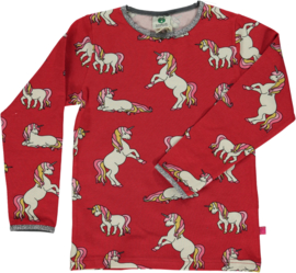 T-shirt long Smafolk, Unicorn Dark red