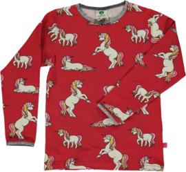 T-shirt long Smafolk, Unicorn Dark red