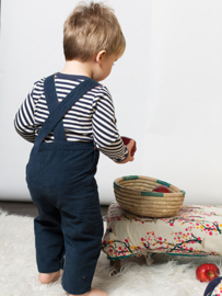 Dungeree, overall Little Green Radicals, Navy classic Corduroy met lining! 12-18mnd