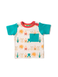 T-shirt Little Green Radicals, Waterfall River Friends blue sleeves