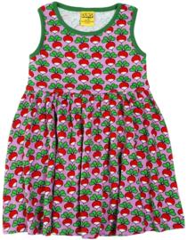 Jurk / sleeveles dress, gathered skirt,  DUNS Sweden, Radish violet 86, 98 of 110