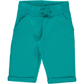 Broek / sweatshorts knee Maxomorra, Turquoise