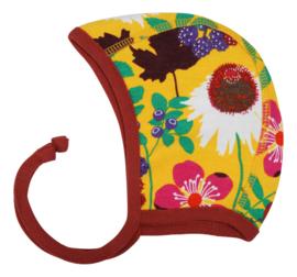 Hat/ baby cap/ Bonnet Duns, Autumn Flowers yellow