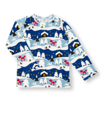 T-shirt long / longsleeve JNY,  Snowy cottage