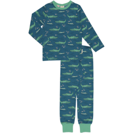 Pyjama Set LS Meyadey by Maxomorra, Crocodile water
