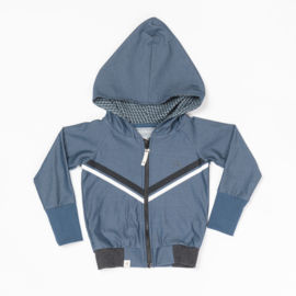 Hoodie Albababy, Adam Zipper Hood Dark Denim 86, 92 of 98