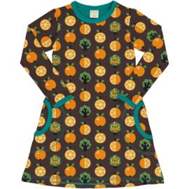 Jurk / Dress LS Maxomorra, Orange