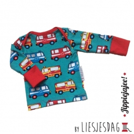 T-shirt long By Liesjesdag, Resquecars maat 68