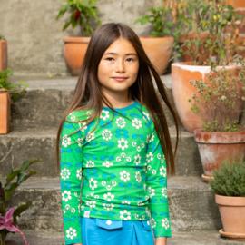 Longsleeve Albababy, Ghita Blouse Kelly Green Fairy Tail Flowers