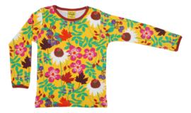 T-shirt Long  Duns Sweden, Autumn Flowers yellow