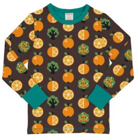T-shirt long / longsleeve Maxomorra, Orange