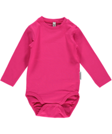 Romper / bodysuit LS Maxomorra, Cerise  74, 86 of 92