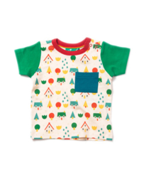 T-shirt Little Green Radicals, Ferm Green Little Village Tee 9-12m of 6-7yr