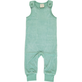 Playsuit Velours Maxomorra, Soft teal