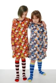 Jurk / Dress LS DUNS Sweden, flower Blue 86
