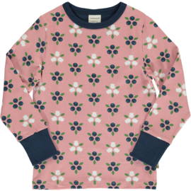 T-shirt long / longsleeve Maxomorra, Blueberry Blossom 122-128
