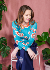 Longsleeve Ladies AiA all I adore by Alba of Denmark, My all Time favorite Sleeve Biscay Bay Flower Heaven