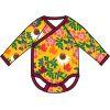 Romper/wrapBody / kimono body LS Duns, Autumn flowers yellow body vanaf maat 50
