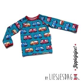 T-shirt long By Liesjesdag, Resquecars maat 98