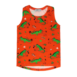 Tanktop Raspberry Republic, Ignacio the Iguana Red