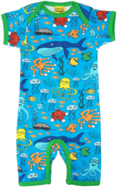Jumpsuit / shortsuit DUNS Sweden, Sealife blue