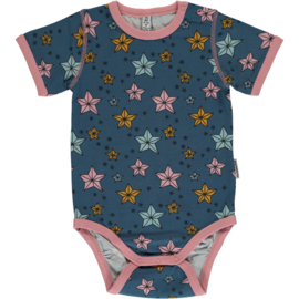 Romper Bodysuit SS Maxomorra, Night Sparkle 50-56 of 62-68