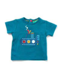 T-shirt Little Green Radicals, Under the sea Applique Tee 9-12m