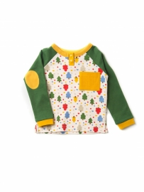 Longsleeve Little Green Radicals, Woodland Magic Forest Green-yellow 6-9mn