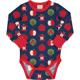 Romper / body LS Maxomorra,  Apple