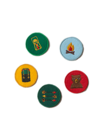 Badges, Little Green Radicals, Mountain pack Explorer sew on patches