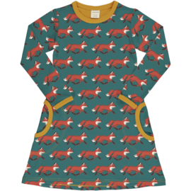 Jurk / Dress LS Maxomorra, Fox 86-92 of 110-116