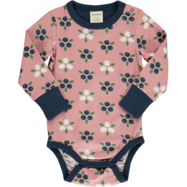 Romper / body LS Maxomorra,  Blueberry Blossom