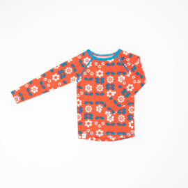 Longsleeve Albababy, Ghita Blouse Spicy Orange Fairy Tail Flowers