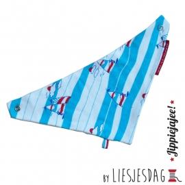 Slabber, bandana bib, zeverslab By Liesjesdag, Sailing