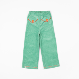 Broek Albababy, Flower Power pants Creme de menthe