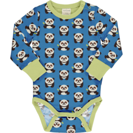 Romper / body LS Maxomorra, Playful Panda