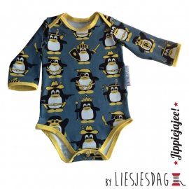 Romper / body  By Liesjesdag, pinguins maat 62
