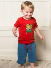 T-shirt Little Green Radicals, Leo Lion Red  Applique 86