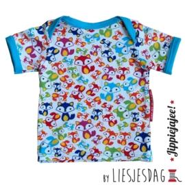 T-shirt By Liesjesdag, Vosjes multi maat 86
