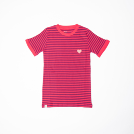 T-shirt Ladies AiA Albababy, Vigga Raspberry Magic stripes