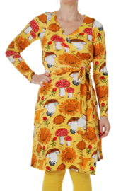 Dress LS wrap Ladies, Duns Sunflower Yellow
